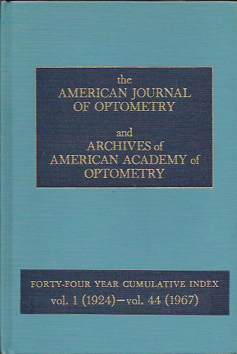 Image for AMERICAN JOURNAL OF OPTOMETRY AND ARCHIVES OF AMERICAN ACADEMY OF OPTOMETRY