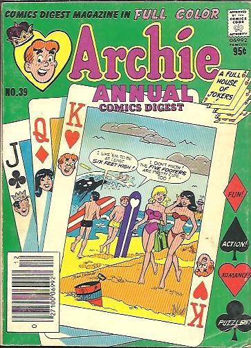 Image for ARCHIE ANNUAL COMICS DIGEST, NO. 39