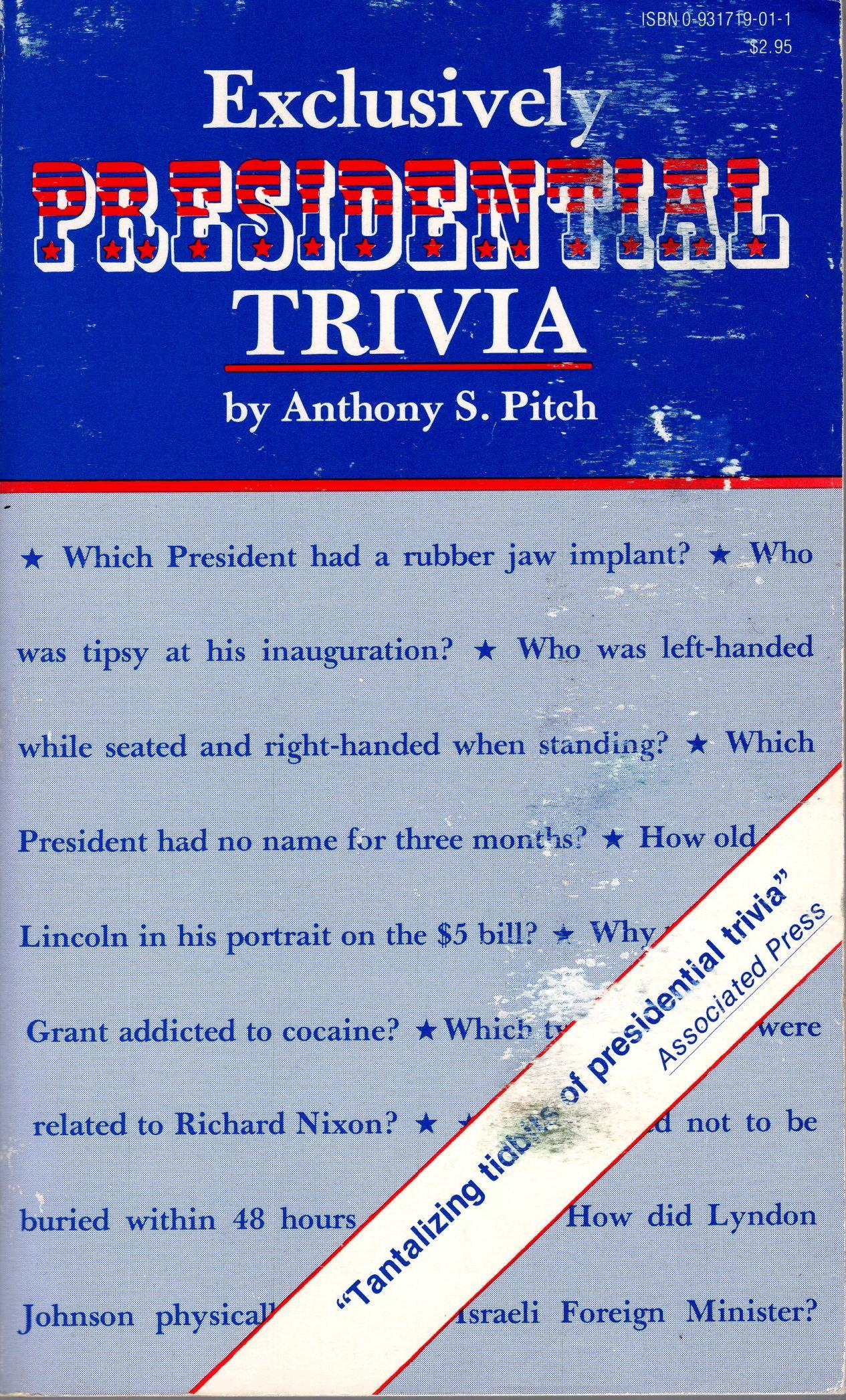 Image for EXCLUSIVELY PRESIDENTIAL TRIVIA