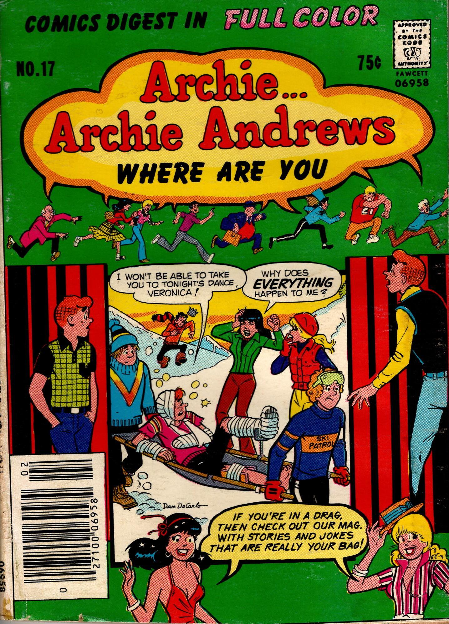 Image for ARCHIE ARCHIE ANDREWS WHERE ARE YOU DIGEST NO. 17